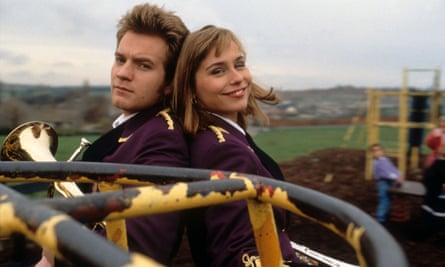And the band played on … Ewan McGregor and Tara Fitzgerald in Brassed Off.