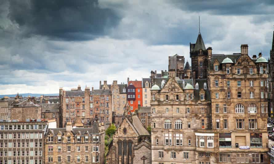 Edinburgh's Old Town. Airbnb expansion into the tourist centre has been exceptionally rapid and far-reaching.