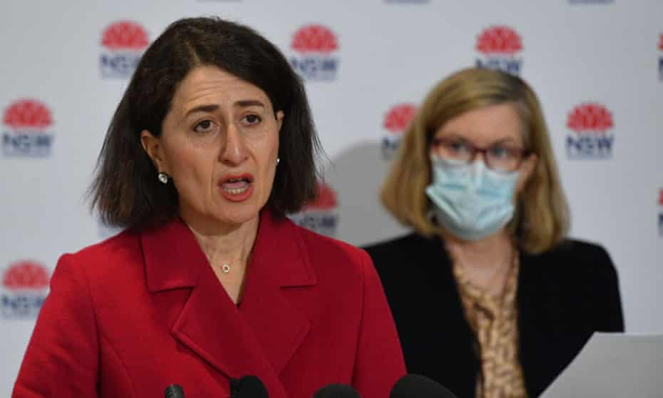 NSW premier Gladys Berejiklian says the Sydney Covid outbreak is a national emergency after the state recorded 136 new coronavirus cases, and calls for vaccines to be redirected to residents in the main hotspots.