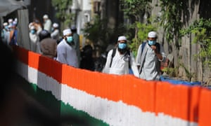 Police cordon off the Nizamuddin area of Delhi after several members of an Islamic congregation tested positive for coronavirus