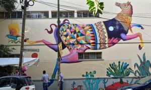A colourful mural