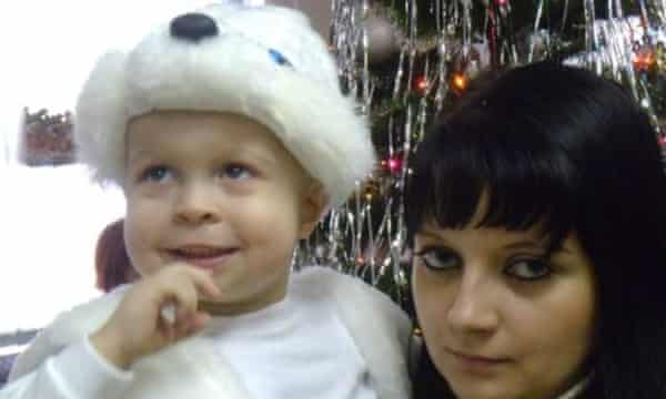 Daniil and his mother, Marina Nizhegorodova.