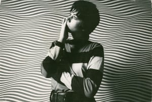 Black and white portrait … Bridget Riley in 1964.