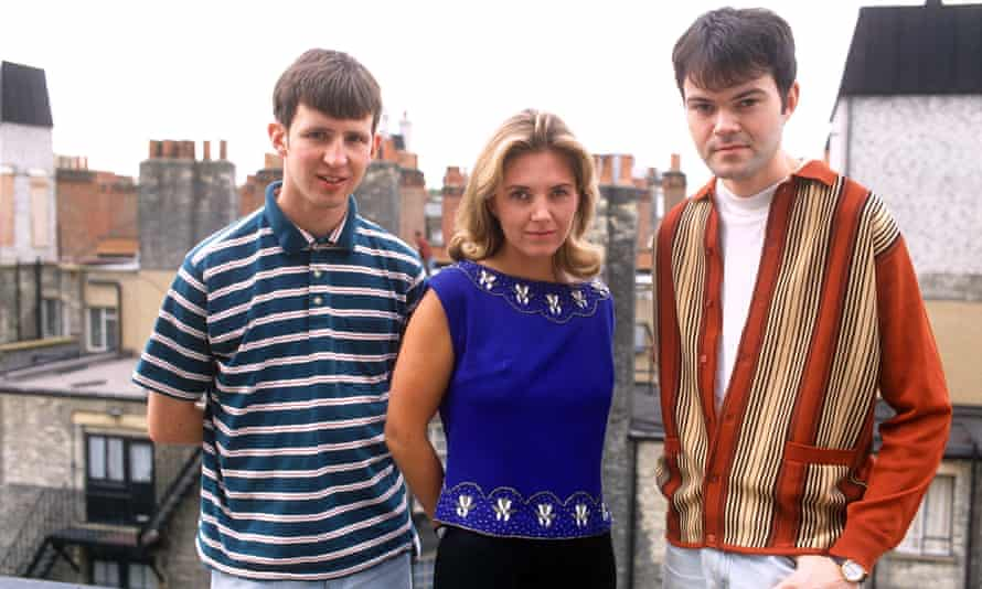 Saint Etienne in 1991 (from left) Bob Stanley, Sarah Cracknell and Pete Wiggs.