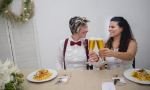Priscilla Cicconi and Bianca Gama decided to marry before Jair Bolsonaro takes office 1 January.