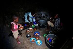 A family meal in Kasawo village, Mukono district