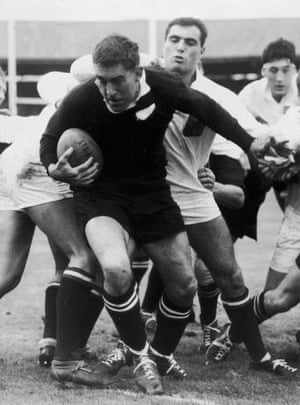 Colin Meads in action with the All Blacks, 1967.