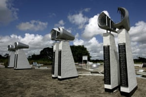 A monument at Rusthof Cemetery in Paramaribo honouring those that died in the disaster.