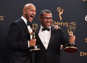 Keegan-Michael Key and Jordan Peele after winning for Outstanding variety sketch series