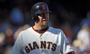 Aubrey Huff during his career with the Giants in 2012