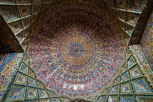 The Nasir al-Mulk is also known as 'the pink mosque' due to its large number of pink tiles.