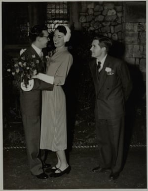 Eric's wedding to Joan Bartlett in 1952, with Ernie as best man