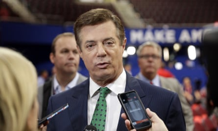Paul Manafort's lobbying for a foreign client 'was not conducted on behalf of the Russian government', a spokesman said.