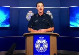 Shane Patton, Victoria state police deputy commissioner, announces charges against George Pell in Melbourne
