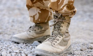 A British soldier's boots