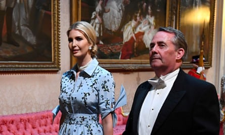 Ivanka Trump and at the state banquet during Donald Trump's visit to the UK
