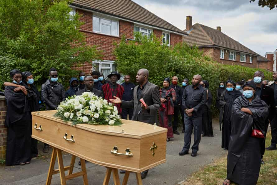 5 June: A Ghanaian funeral ceremony takes place outside the home of a 59 year-old man who died in March