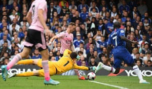 Leicester's James Maddison rounds the keeper.