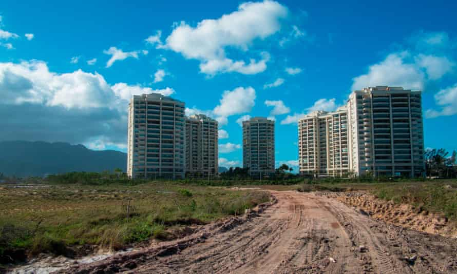 High-rise buildings in the Marapendi area of Rio, which will be home to a golf area for the Games.