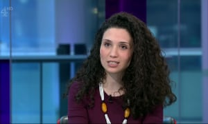 Malia Bouattia, president-elect of the National Union of Students, on Channel 4 News.
