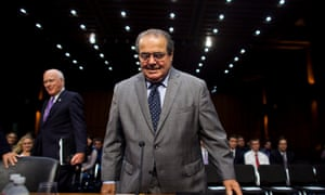Antonin Scalia making a rare appearance on Capitol Hill in 2011.