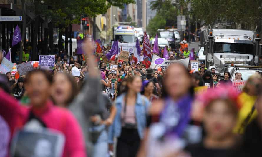 women march for international women's day
