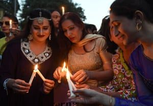 Trans activists take part in a demonstration in Karachi, Pakistan