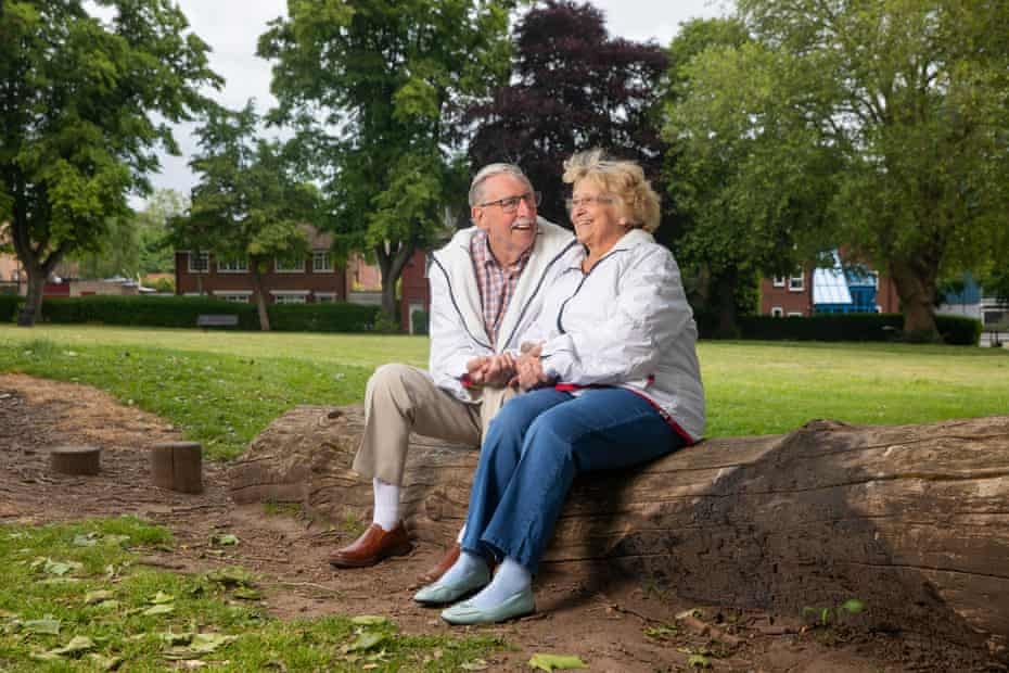 John and Molly Phillis, who both treated in hospital for Covid-19. The pair have been together for 63 years.