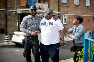 Big Narstie and friends in Brixton.