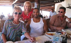 David Kaplan, right, with Ludmila and the singer Craig David.