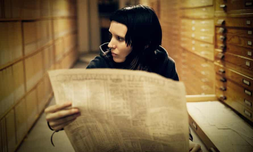 Rooney Mara as Lisbeth Salander in the film version of Stieg Larsson's Girl With the Dragon Tattoo (2011).