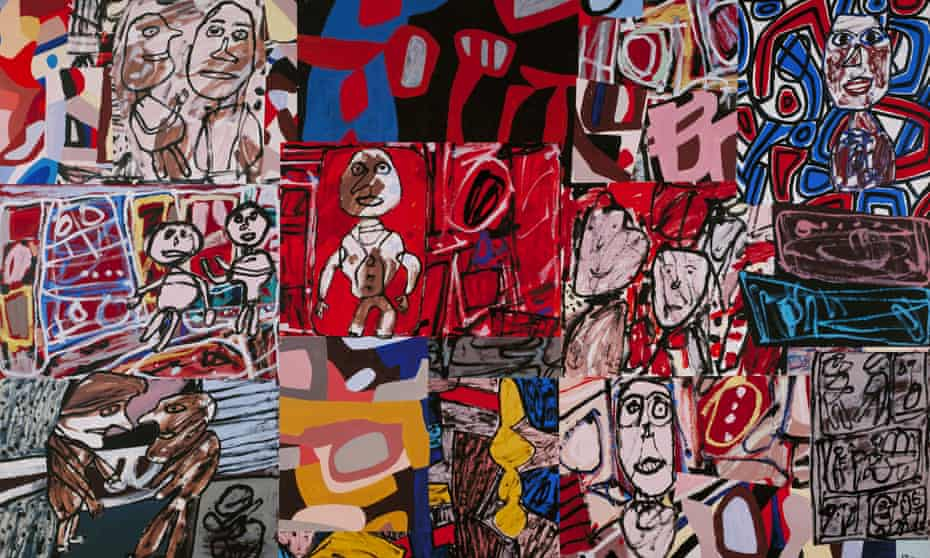 Graffiti power … Jean Dubuffet's Vicissitudes from 1977, which features in the Barbican show.