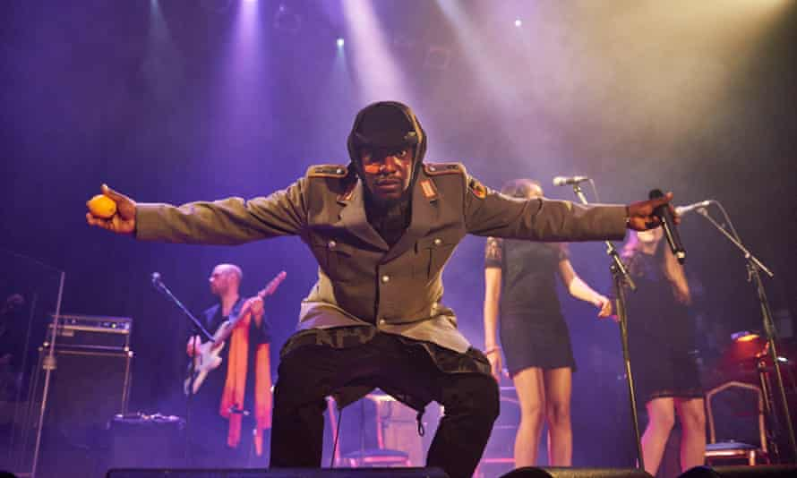 Roots Manuva, who is nominated in the best contemporary song category for Cargo, performs at Islington Assembly Hall in London in November 2015.