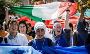 Supporters of pro-life organisations take part in an annual anti-abortion rally in Rome.