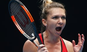 Simona Halep saved three match points before securing her passage into the last 16.
