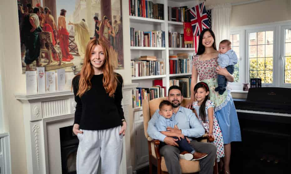Stacey Dooley with Felipe and Lillian Sedile and their three children