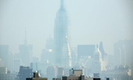 Smog covers midtown Manhattan in New York City.