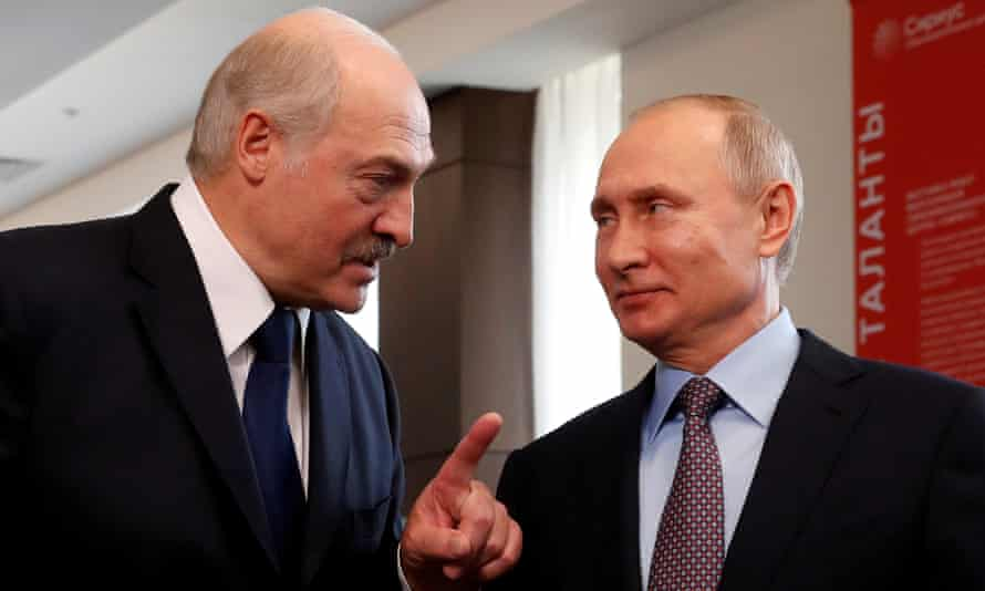 Alexander Lukashenko and Vladimir Putin in 2019