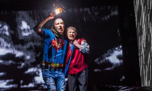 Rhys Ifans as the Fool with Glenda Jackson as King Lear at the Old Vic.