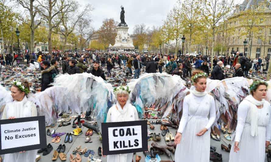 Protesters at Paris climate summit