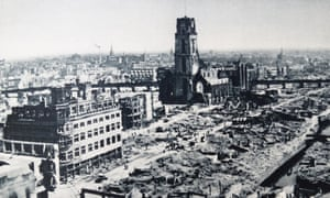 The city of Rotterdam devastated after the German invasion in 1940
