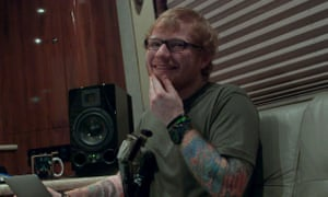 The smiliest person on the planet ... Ed Sheeran in Songwriter.