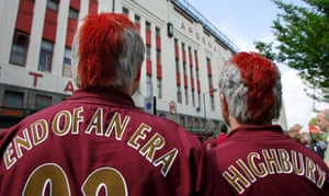 Arsenal fans say goodbye to Highbury in May 2006 before their move to the Emirates.