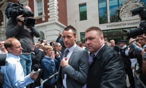 John Terry leaves Westminster magistrates court in 2012 after being found not guilty of racially abusing QPR's Anton Ferdinand
