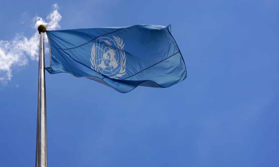 The UN flag at the organisation's HQ in New York. Dozens of current and former employees described a culture of silence.