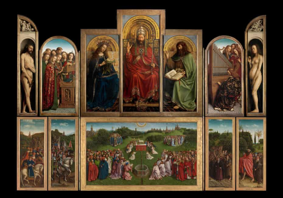 Hubert and Jan van Eyck's Adoration of the Mystic Lamb, also known as the Ghent Altarpiece