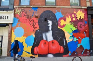 Street art in New York City on Leaf's walking tour.