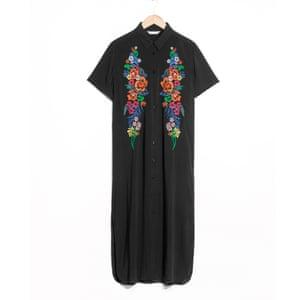 Embroidered shirt dress, £79, stories.com.