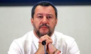 The Italian deputy prime minister Matteo Salvini