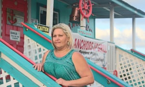 Tressie Smith outside of her restaurant, Anchors Up Grill, in Cameron.